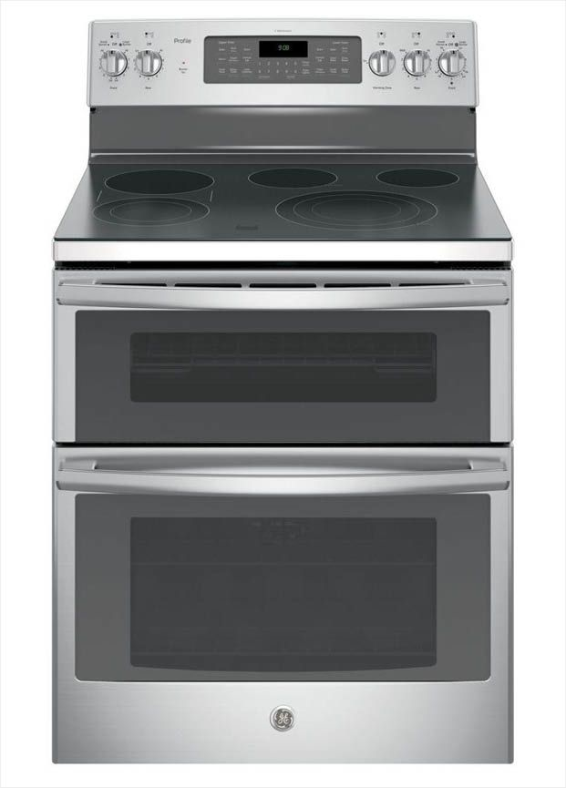 Ge Profile 30 In 6 Cu Ft Double Oven Electric Range With Self Cleaning And