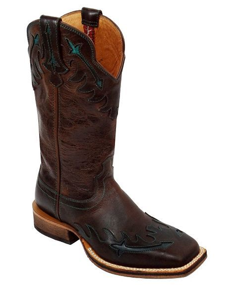 Twisted X Red River Wingtip Cowgirl Boots - Square Toe