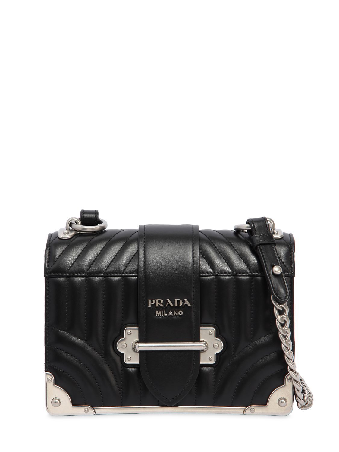 c5e60f84cf55 PRADA CAHIER QUILTED SOFT LEATHER SHOULDER BAG. #prada #bags #shoulder bags  #leather #
