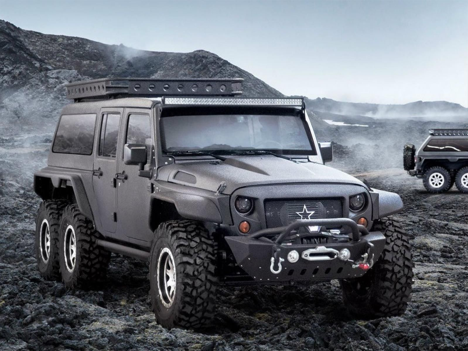 llega el jeep wrangler 6x6 tiembla el amg 6x6 d mercedes. Black Bedroom Furniture Sets. Home Design Ideas