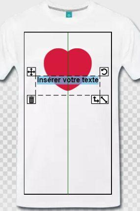 951baf97b9129 Tuto pour créer son t-shirt I love personnalisé, cœurs et ajout de texte
