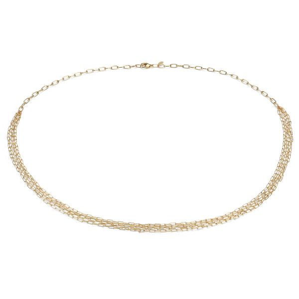 Blue Nile Delicate Five Row Necklace in 14k Yellow Gold VLLsNJOTh