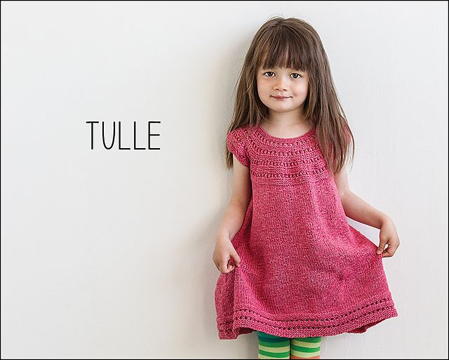 Tulle from Knits for Little Scamps 2 - an 11 pattern ebook of kids knits / På dansk i bogen Strik til Banditter