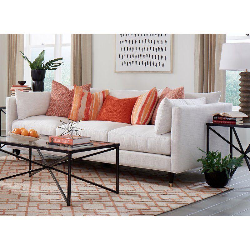 Contemporary Natural White Sofa Pia In 2020 White Furniture Living Room Furniture Contemporary Living Room