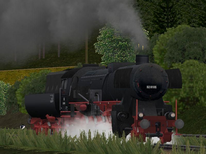 Dampflokomotive DB 52-6105. Bis #EEP6 http://bit.ly/Dampflokomotive-DB-52-6105