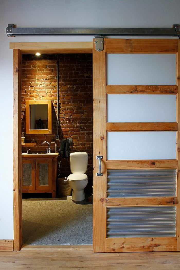 Praktische Schiebeturen Fur Ein Rustikales Flair Tolle Badezimmer Rustikale Bad Eitelkeiten Badezimmer Design