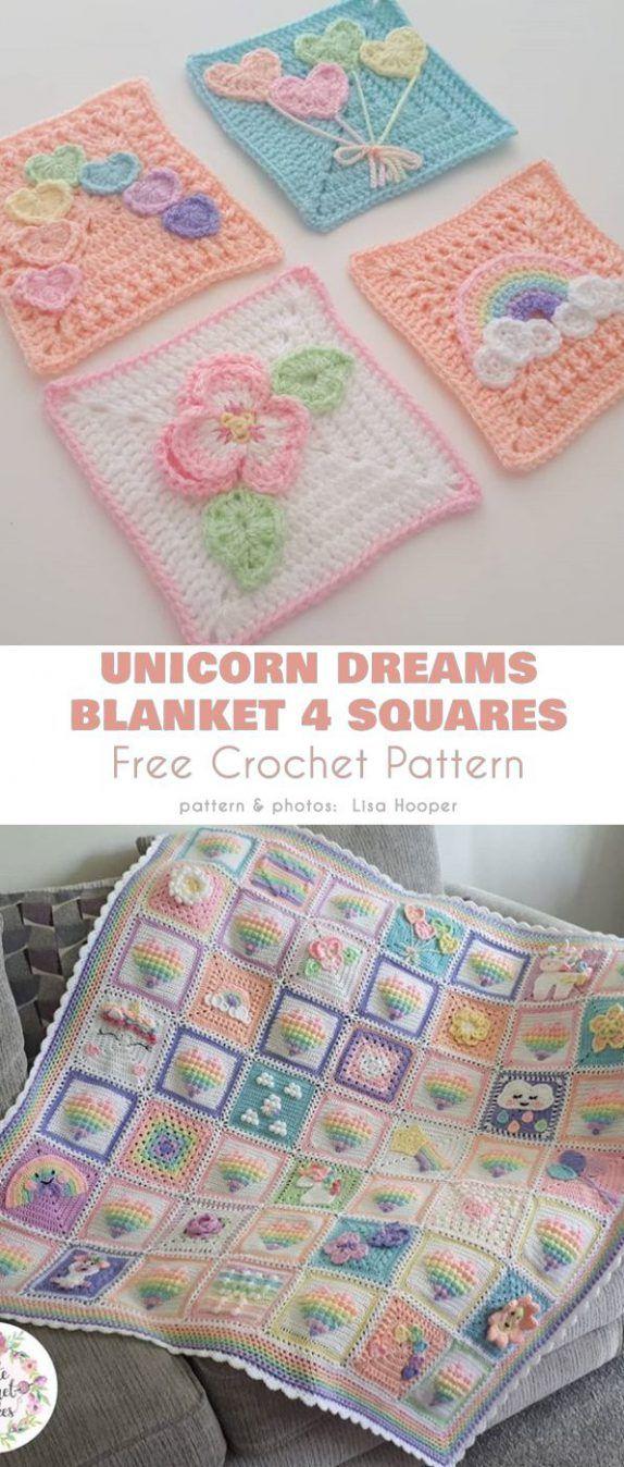 Unicorn Dreams Blanket Free Crochet Pattern