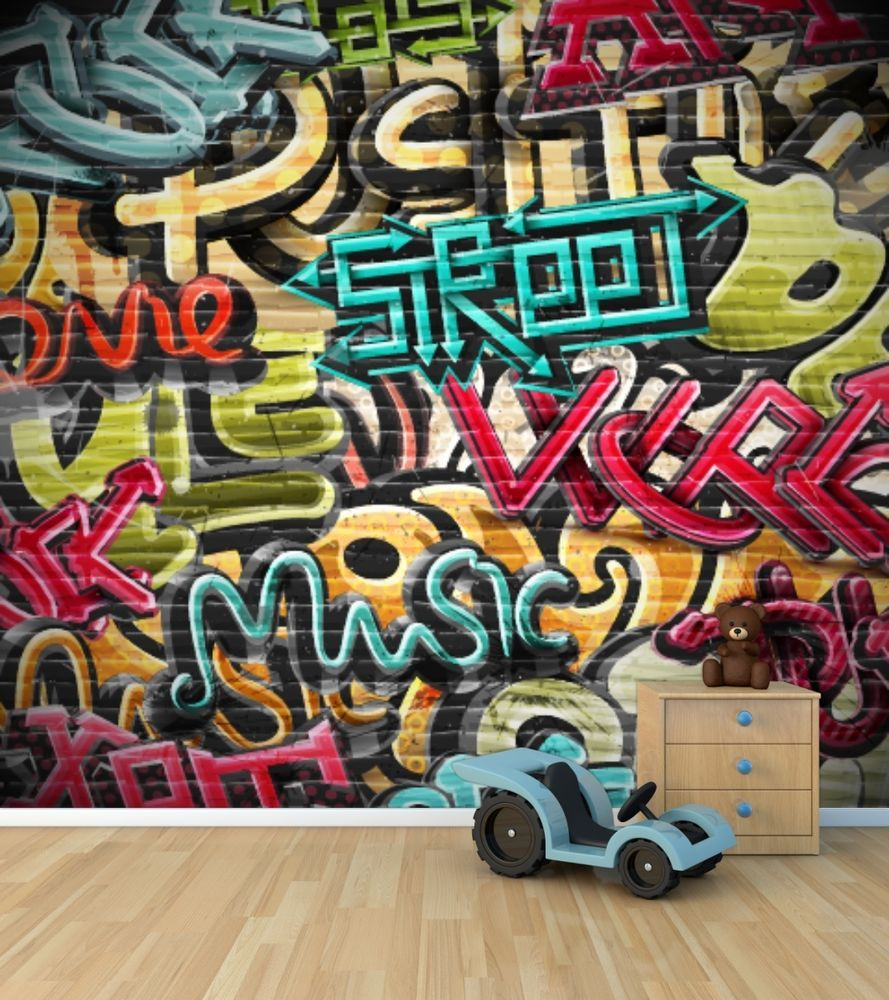 Graffiti wall art bedroom - Graffiti Bedroom Ideas At Http Www Visionbedding Com Graffiti Graphics_bedroom Rm 12725 Toddler Bedrooms And Decor For Girls Pinterest Graffiti
