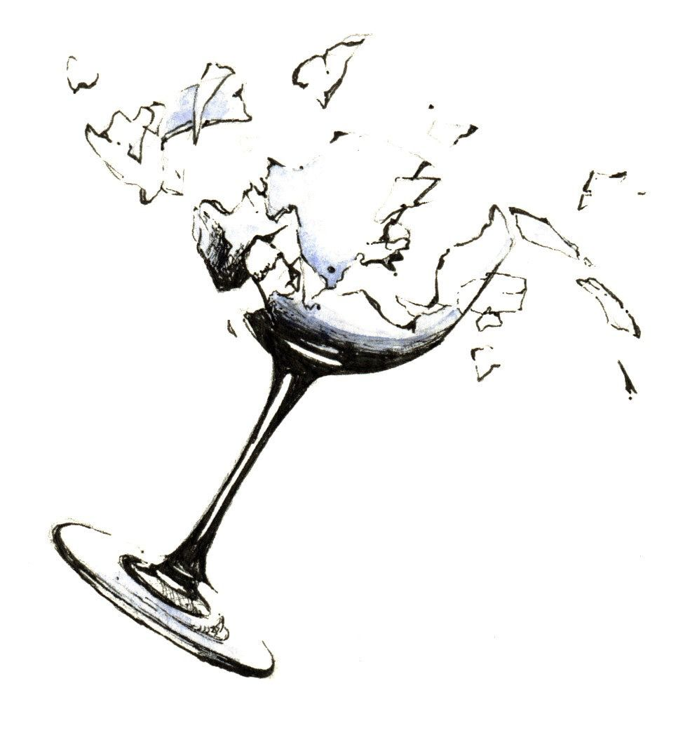 The Fragile Psyche Of The Swimmer Turned Triathlete Wine Glass Drawing Wine Glass Tattoo Glass