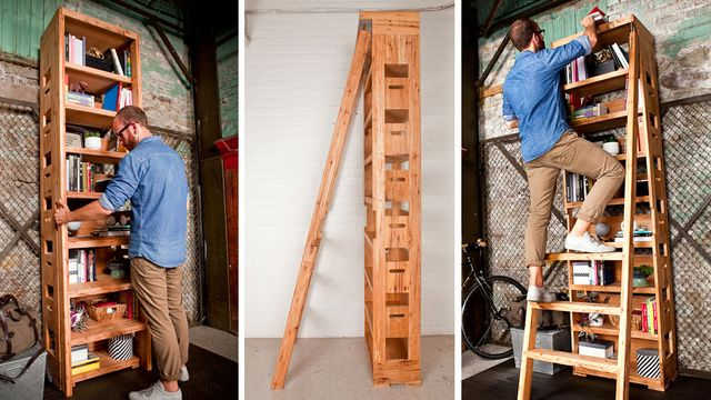 A Secret Pop Out Ladder Ensures Nothing Is Ever Out Of