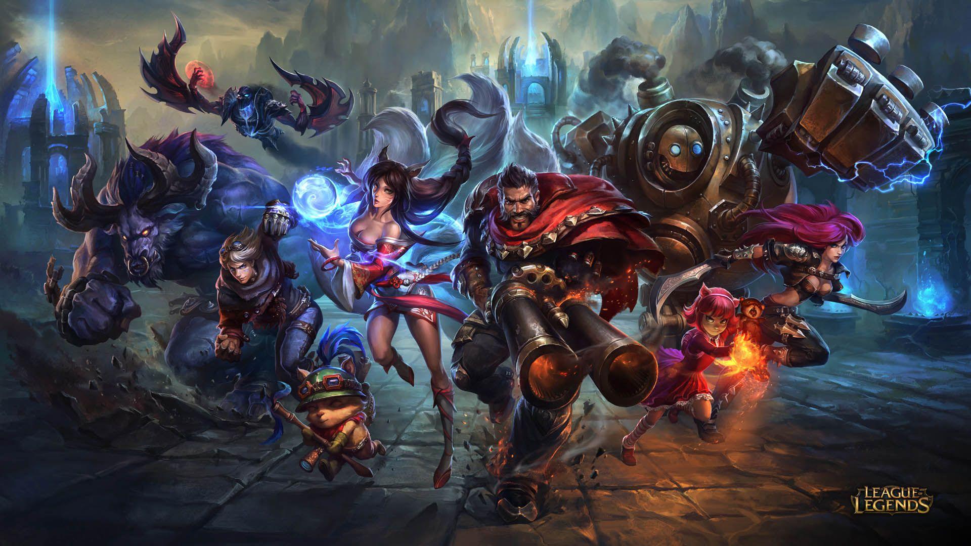 League Of Legends Team Hd Wallpaper Download Wallpaper From Wallpapershade Com League Of Legends League Of Legends Game Play League Of Legends