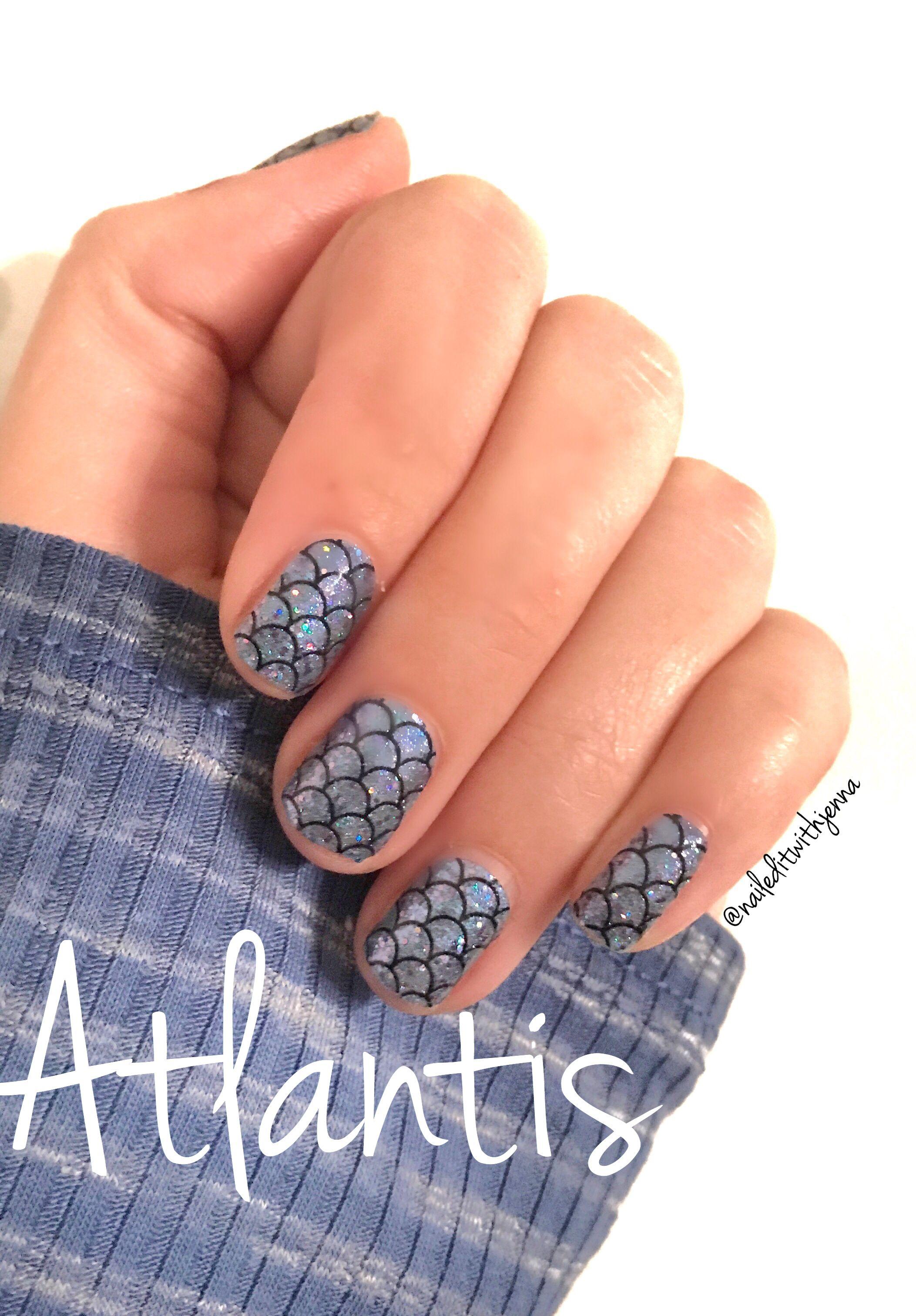 Atlantis nail polish strips from Color Street. 100% nail polish ...