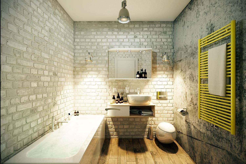 Интерьер ванной в стиле лофт. Ванная стиль, Дизайн