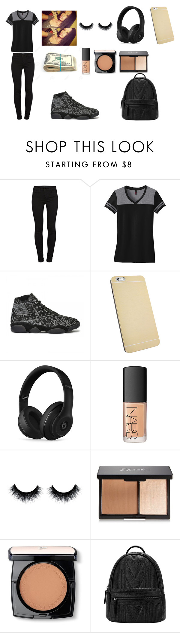 """""""Fashion & Beauty"""" by naturallycurls ❤ liked on Polyvore featuring J Brand, Beats by Dr. Dre, NARS Cosmetics, Lancôme, women's clothing, women's fashion, women, female, woman and misses"""