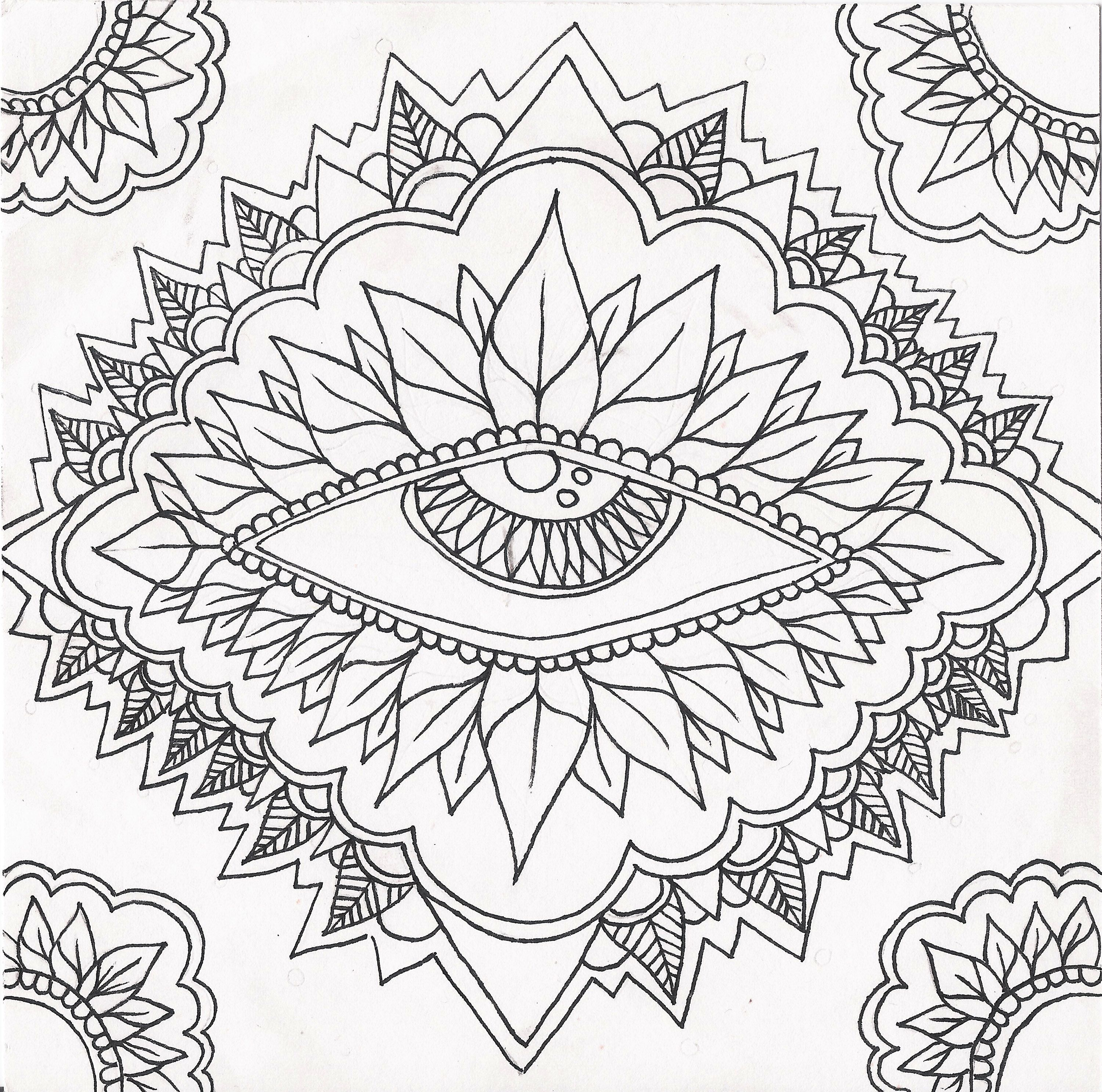 Psychedelic Coloring Pages - Bing images   Omalovánky