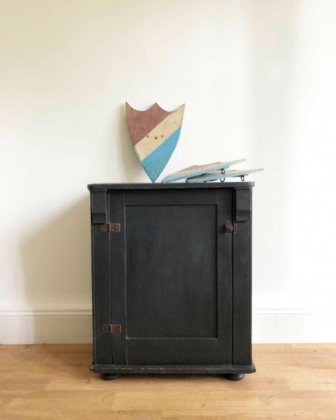 Lovely Antique Vintage French Black Painted Kitchen Cabinet Cupboard Dress Base Vinterior Sent To Lond Painting Kitchen Cabinets Lovely Antiques Kitchen Paint