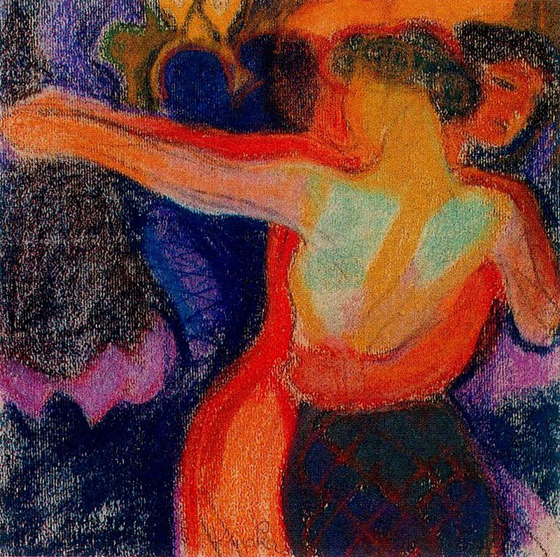 Tango, Frantisek Kupka, 1909, pastel on paper, 30 x 30 cm, Private Collection