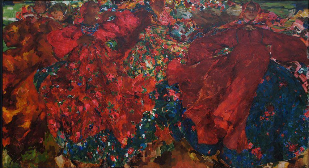 "Philippe Malyavin, ""Whirlwind,"" 1906, oil on canvas, Tretyakov Gallery."