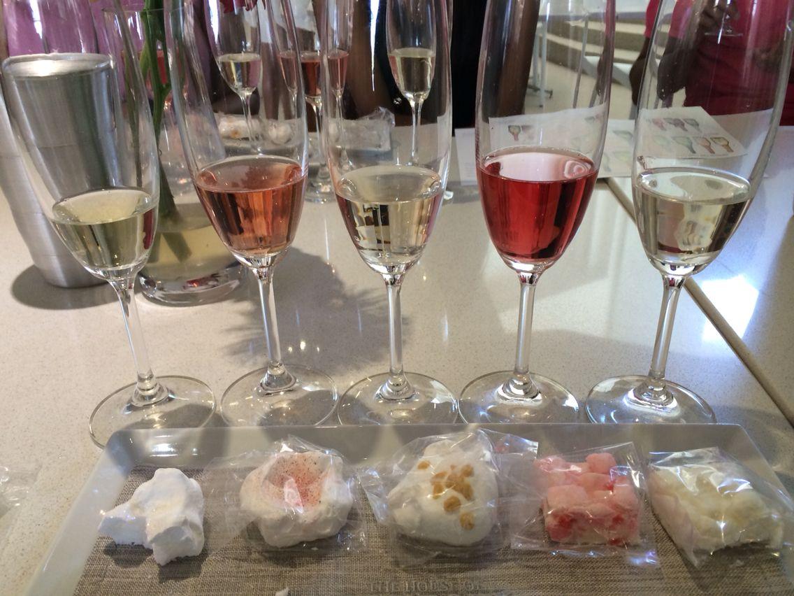 Sparkling Wine Tasting-J.C Le Roux Cape Town, South Africa. fudge, flavoured meringue, sweet