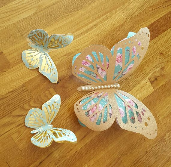 Butterfly Stencil Vintage Shabby Chic Template Card making Home Decor Crafts BU7
