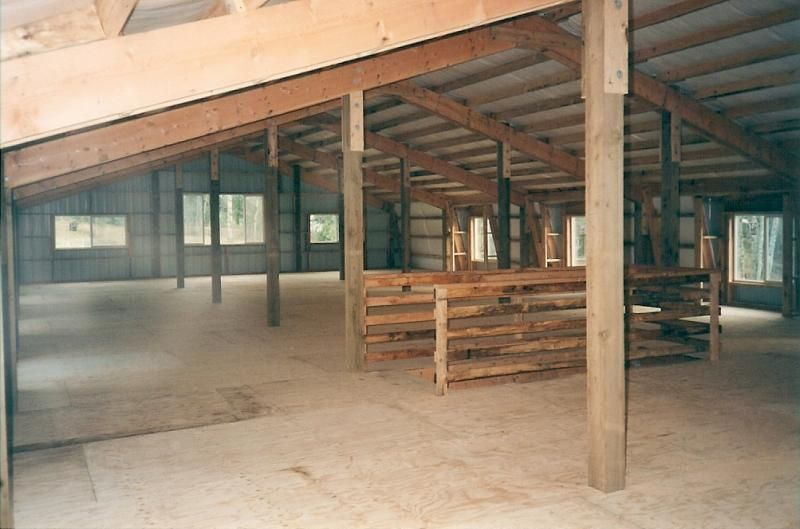 I can completely envision living quarters here Pole Barn