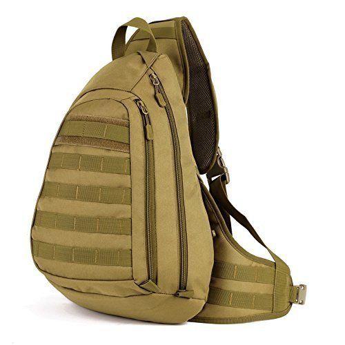 Military Tactical Molle Sling Chest Messenger Shoulder Bag Crossbody Backpack