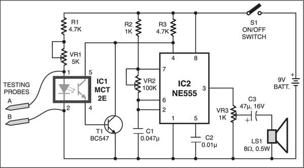 Low resistance continuity tester electronics pinterest circuit circuit diagram circuits low resistance continuity tester ccuart Choice Image