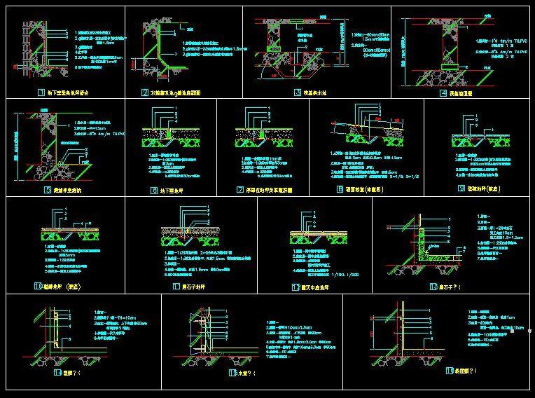 autocad 2d building drawing pdf