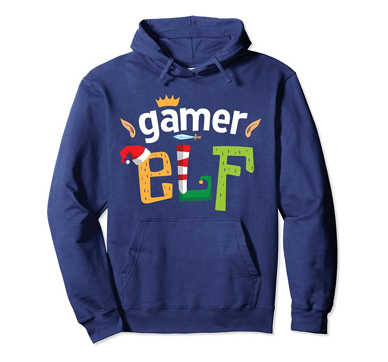 Gamer Elf Christmas Elves Video Gaming Squad Matching Family Pullover Hoodie