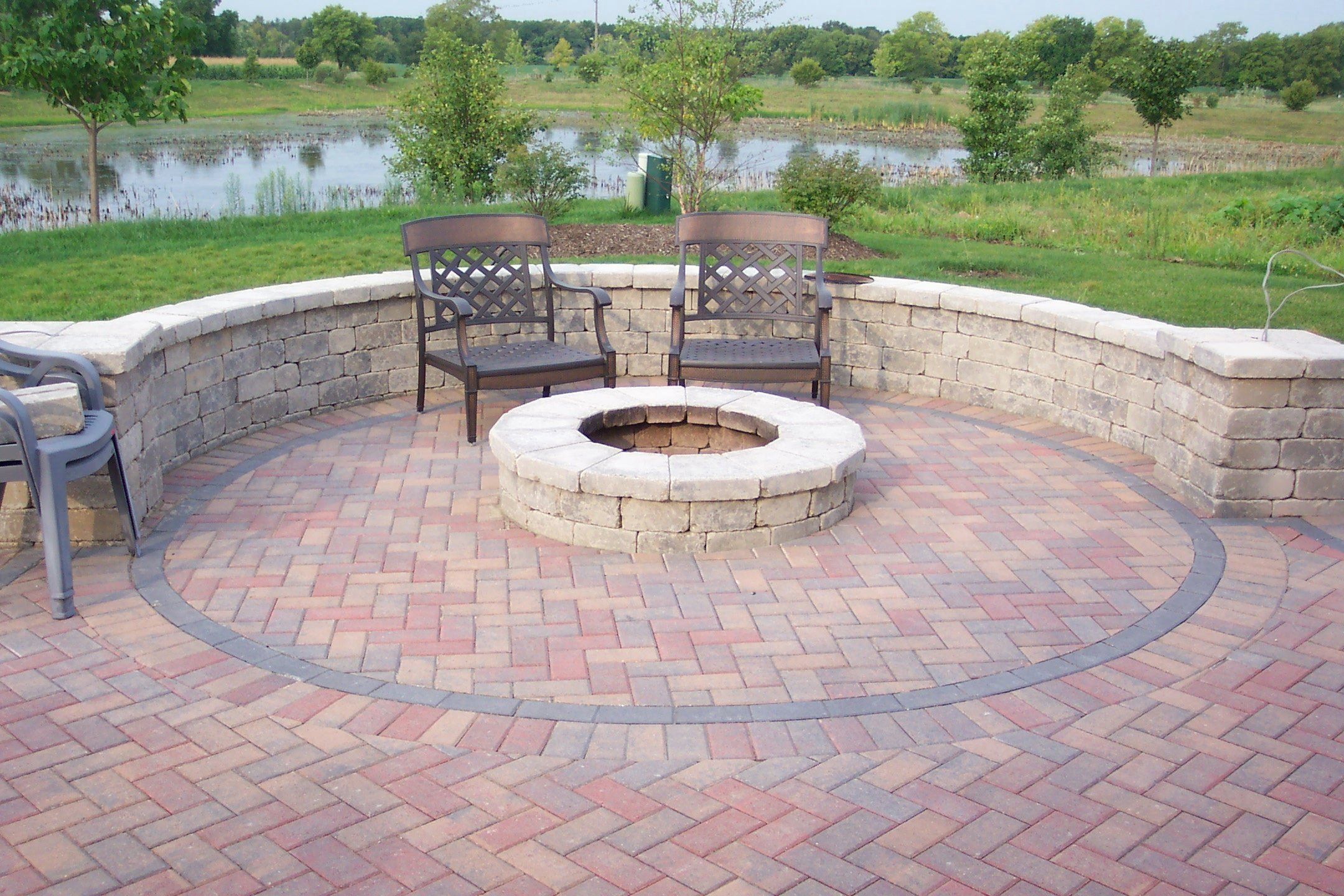 Brick Patio Ideas And Fire Pit