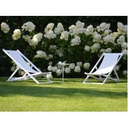 Photo of Jan Kurtz furniture deck chair Rimini white, 105x59x109 cm Jan Kurtz