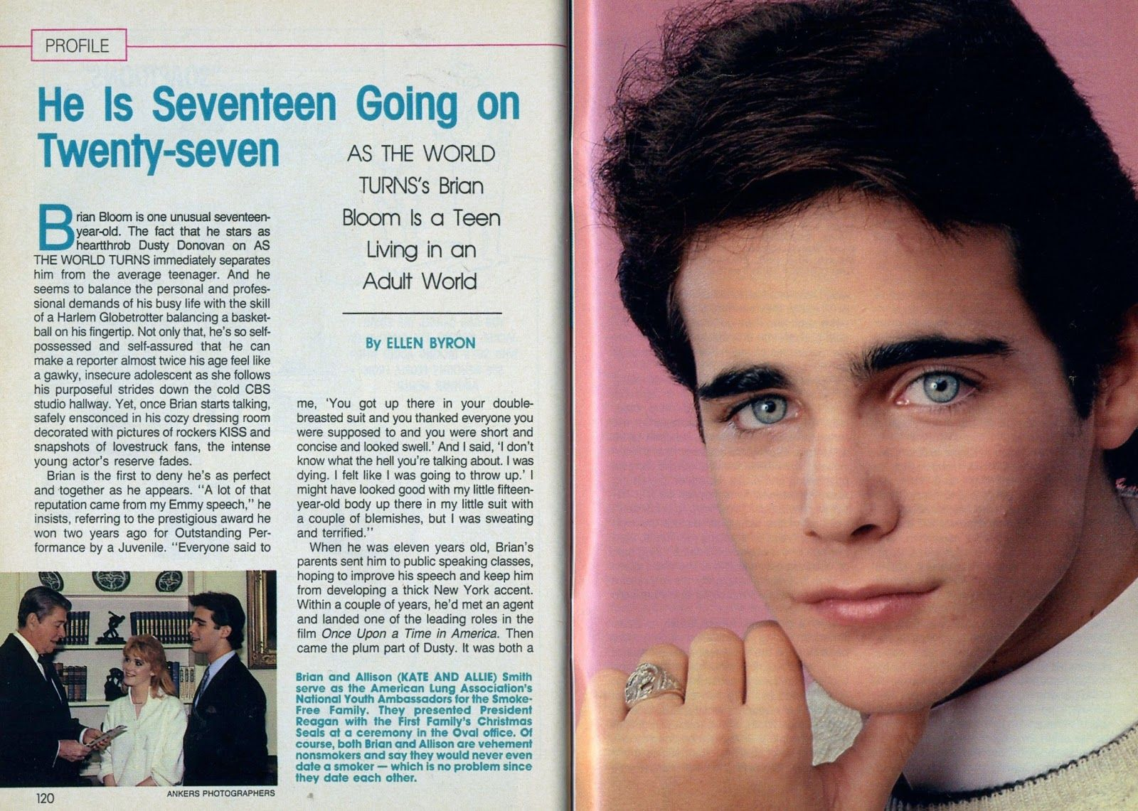Brian Bloom At Age 17 When He Was On As The World Turns My