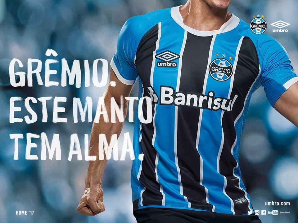 c54e1b0da3 Camisas do Grêmio 2017-2018 Umbro | Grêmio | Grêmio, Camisa gremio e ...
