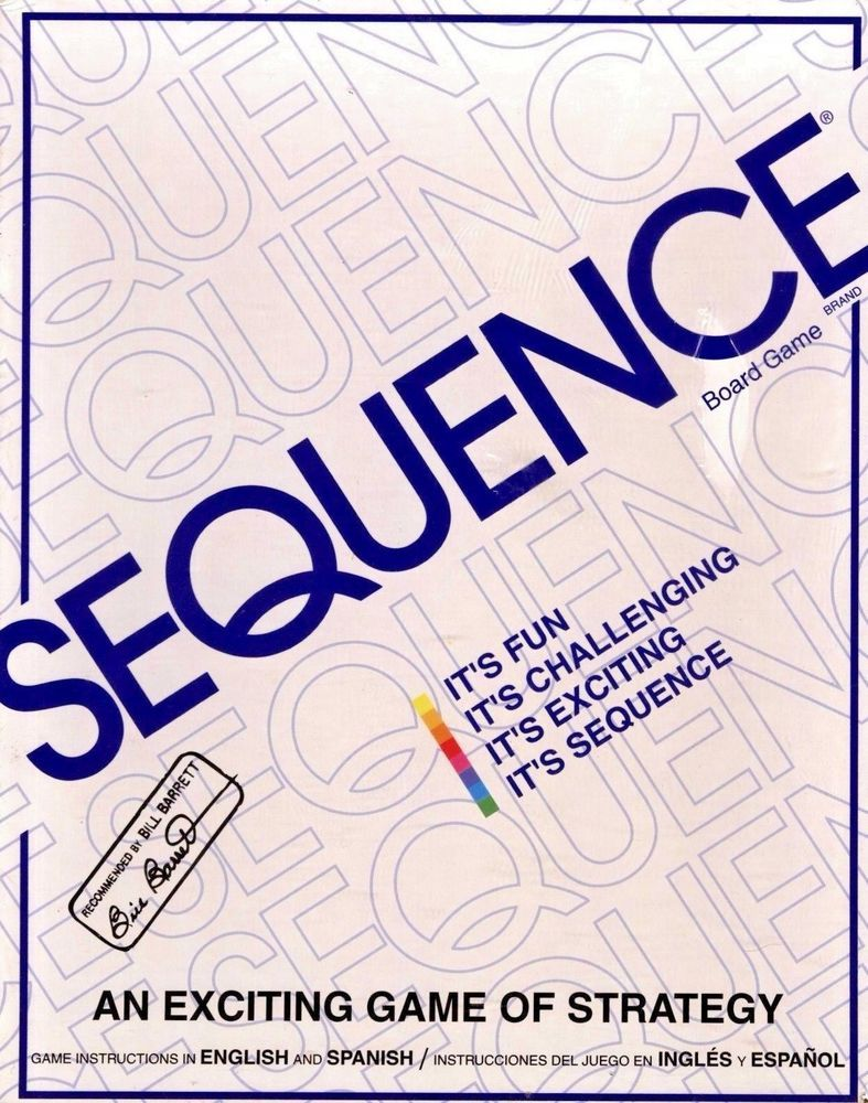 Sequence Game By Jax Strategy Board Game New Sealed Free Shipping