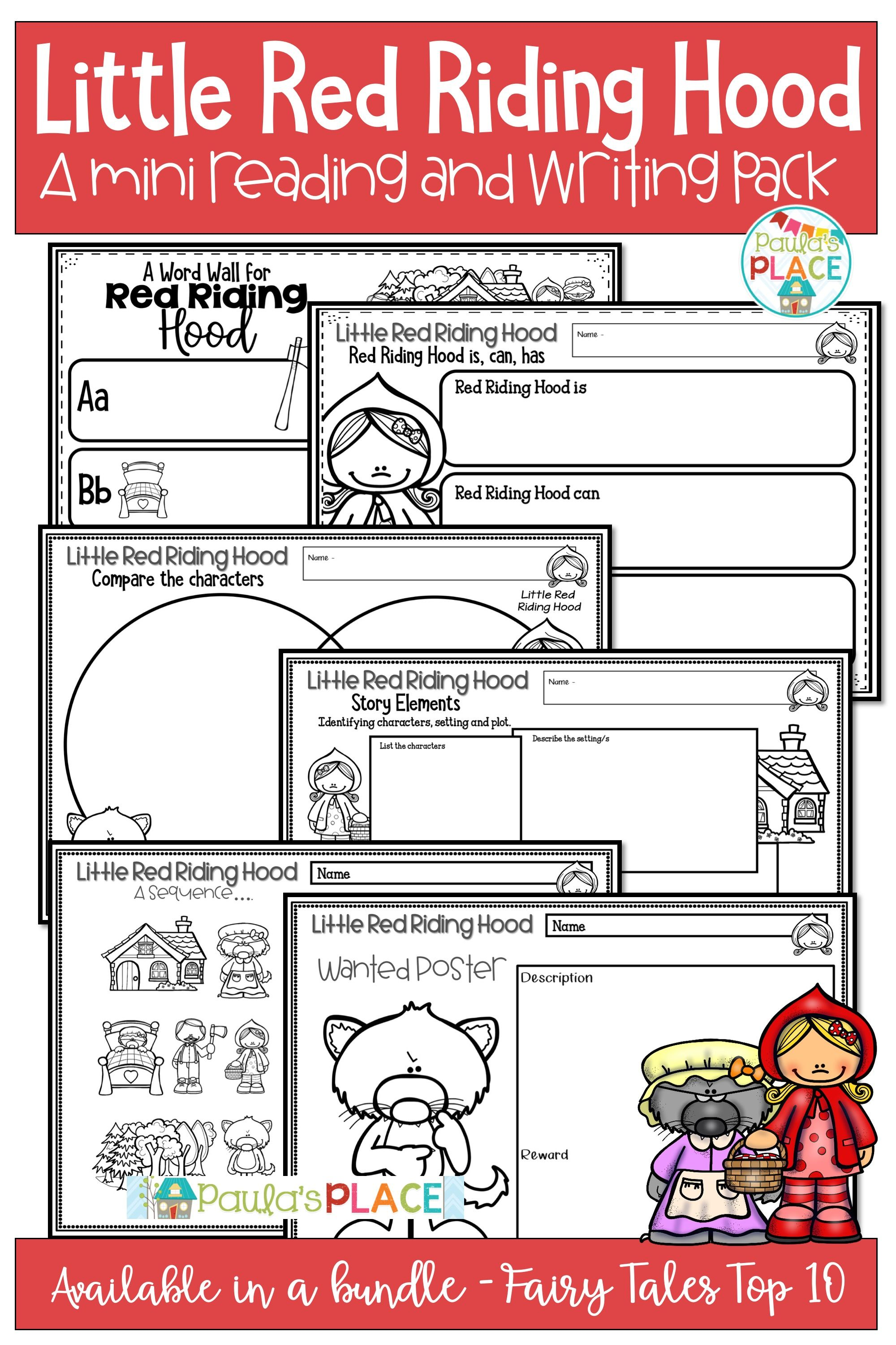 Little Red Riding Hood Mini Reading And Writing Activities
