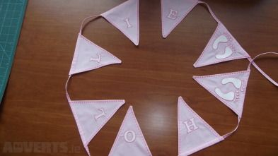 Personalized Baby Bunting for baby shower from Adverts.ie #babybunting #babyshower