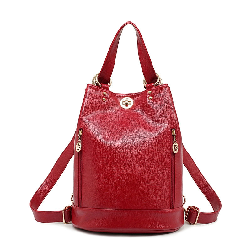 (50.00$)  Buy here  - NEW style Womens leather backpacks & female one shoulder bag high quality women backpack