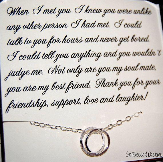 Graduation Gift For BEST FRIEND Maid Of Honor Bridesmaids Birthday Best Friend Eternity