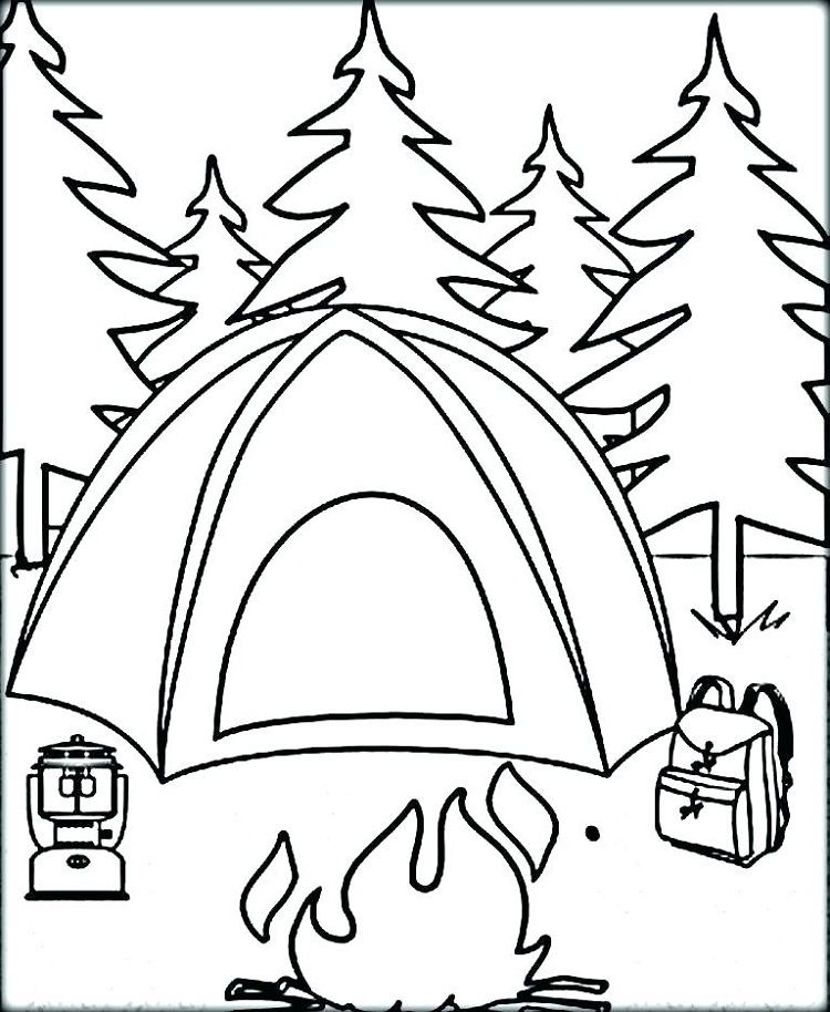 Camping Coloring Pages Pdf Zomer Kleurplaten Thema Activiteiten