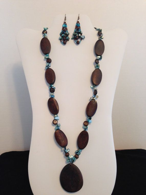 Turquoise  Shell Beads Accent this Necklace by JewelryWorksbyCarol, $25.00