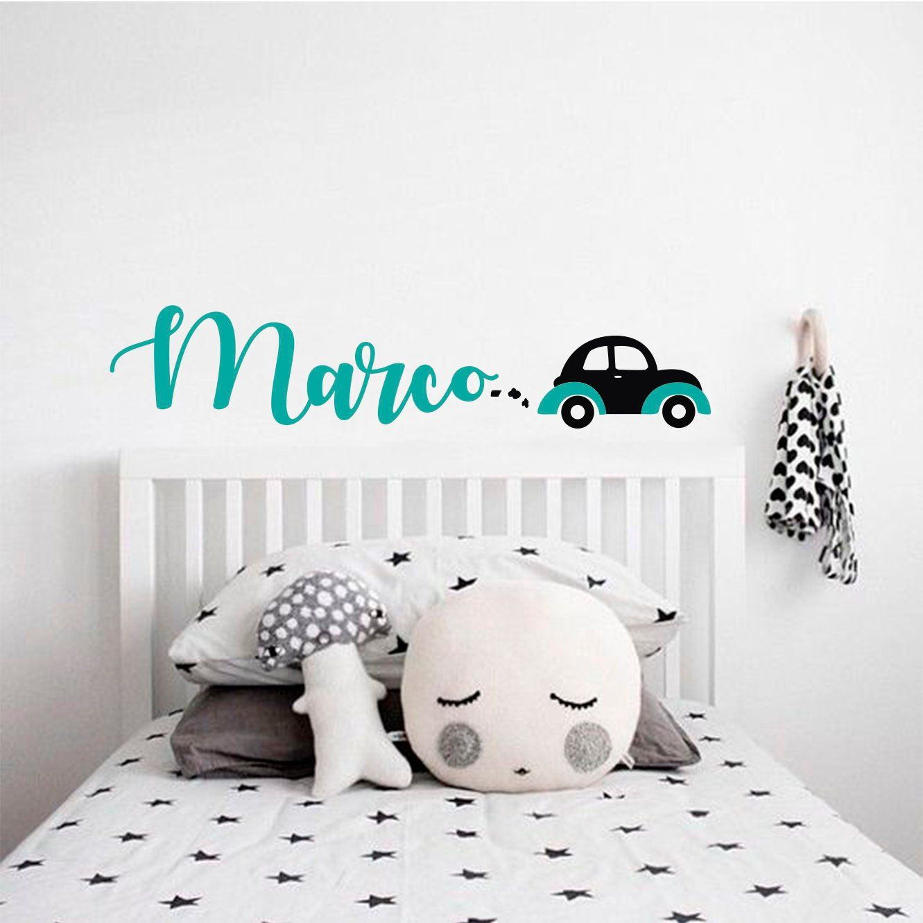 Personalized Name Wall Decal Car Wall Decal Boy Name Wall Decal Boys Room Decal Car Sticker Nursery Wall Decal Kids Custom Name Decal Boys Room Decals Kids Room Wall Decals Name