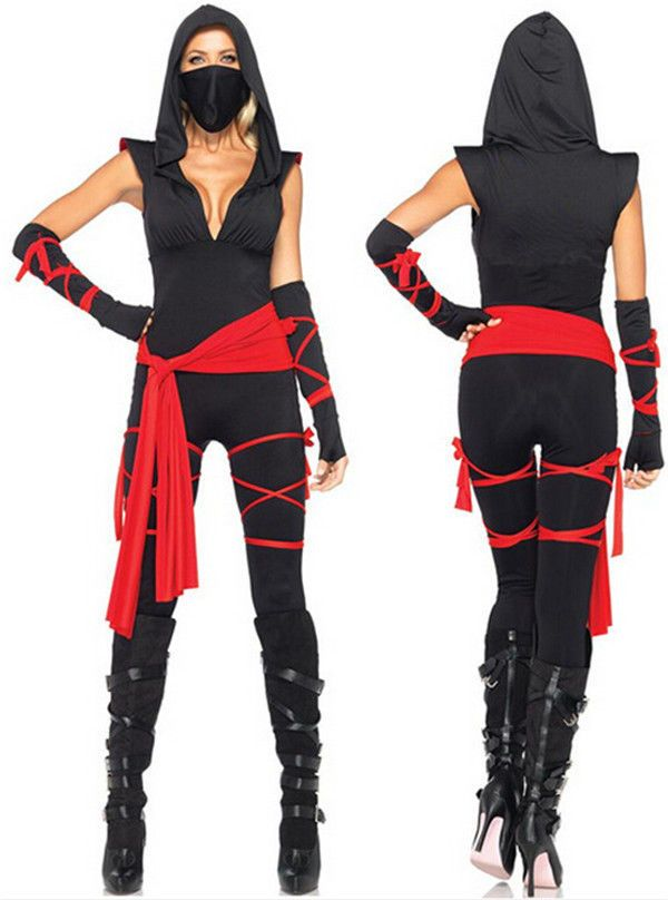 Ninja Costume Adult Female Halloween Fancy Dress
