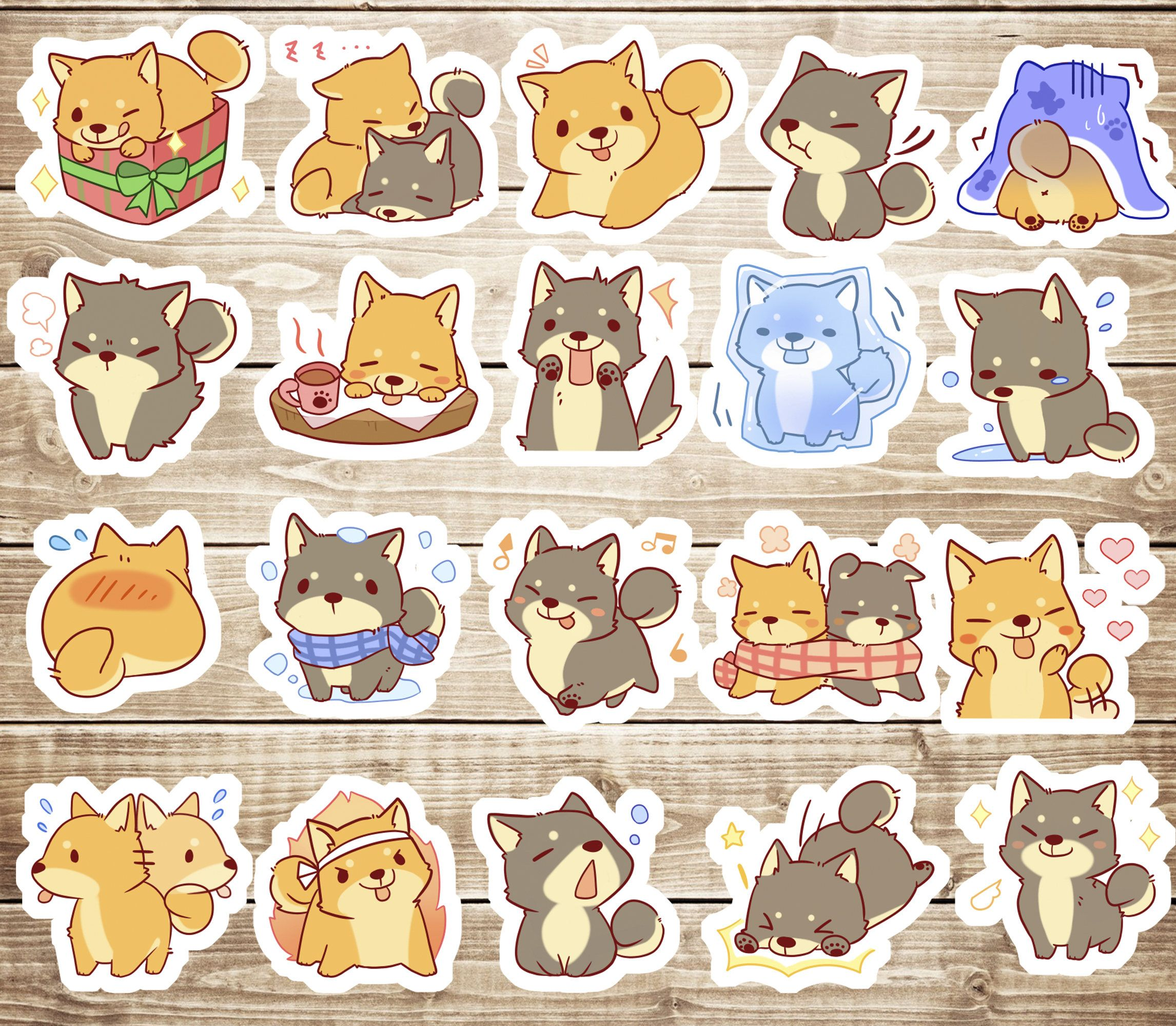 Funny Animals Sticker Kawaii Cats Party Decorative Stickers ~ Cute Cat Stickers