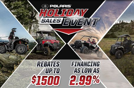 Mettler Implement current promotion for Polaris Industries, Holiday Sales Event