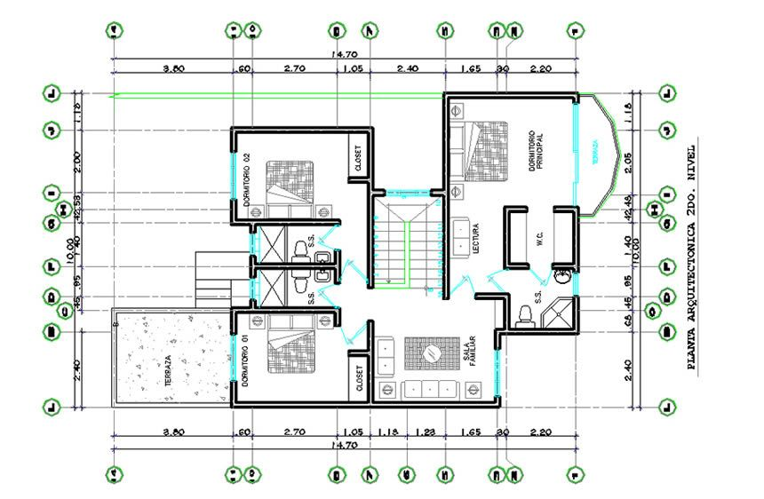 Planos de construccion de casas de 120m2 vivir ingeniero for Planos arquitectonicos de casas