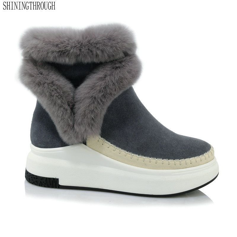 11a99fbd89c6 2019 Fashion Flat Heels Ankle Platform Snow Boots Winter Women Warm Shoes  NEW  Unbranded  Booties