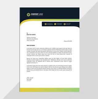 تحميل تصميم ورق رسمي جاهز Letterhead Corporate Learning Arabic