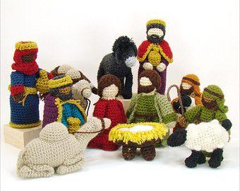 Amigurumi Nativity Español : Camels and donkey crochet patterns christmas nativity pattern
