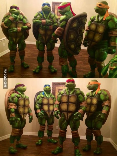 Homemade ninja turtles costumes want pinterest me gustas y coser homemade ninja turtles costumes solutioingenieria Image collections