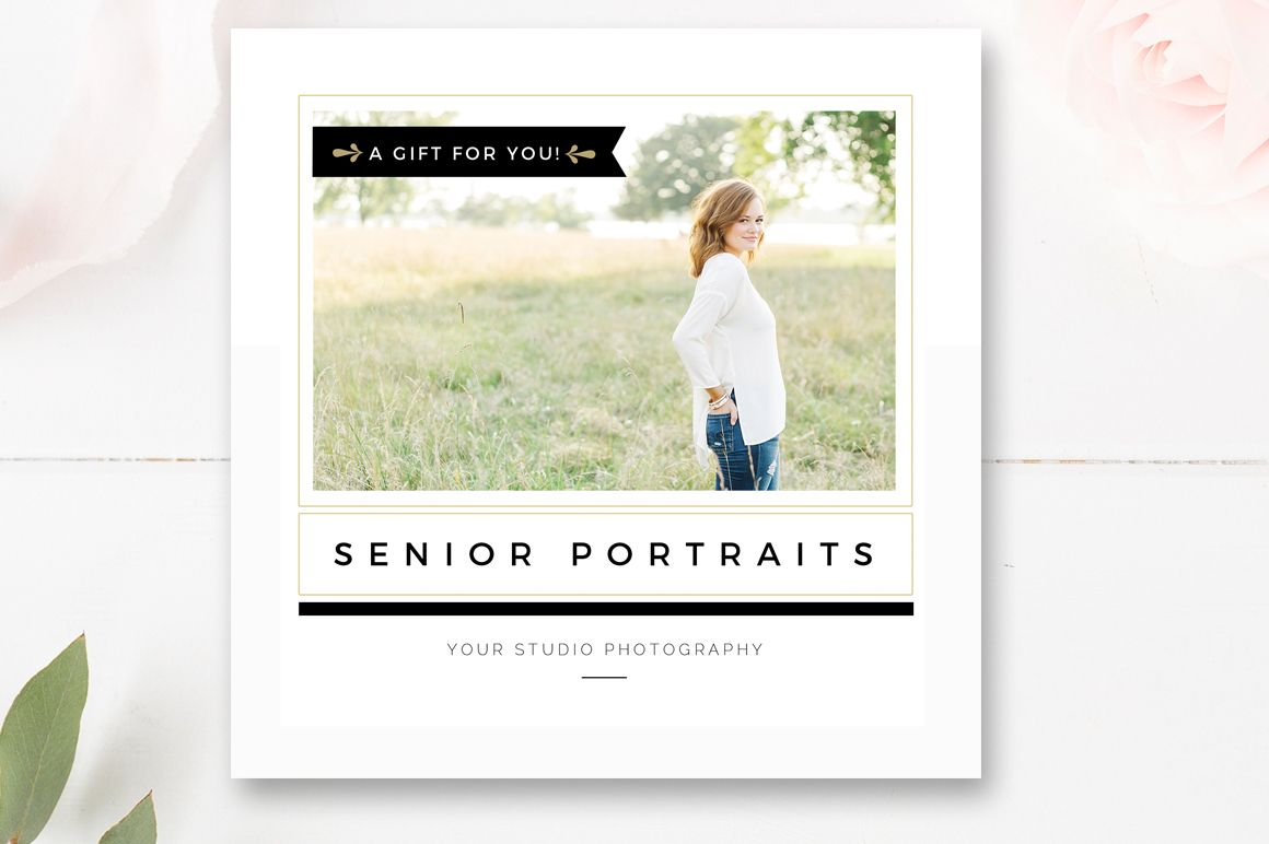 Diy Gift Card Template For Senior Photographers Photography